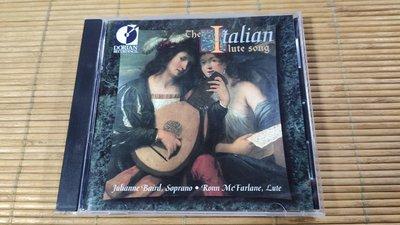 好音悅 Dorian Baird McFarlane The Italian Lute Song NIMBUS版