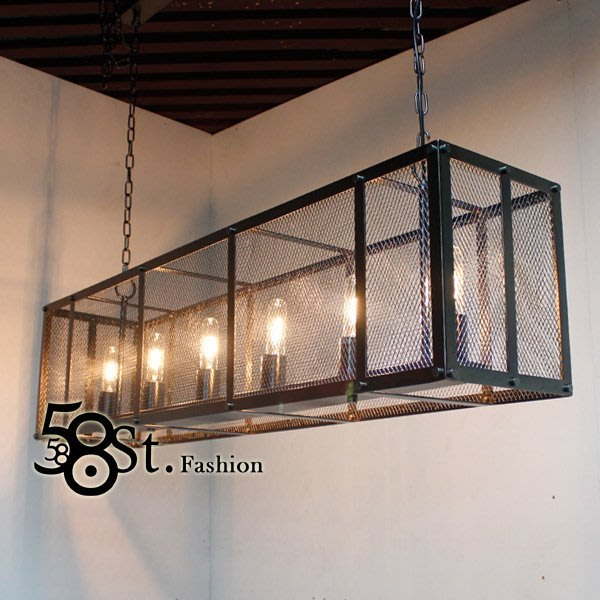 【58街】後現代設計師款式「法式古堡吊燈/金屬款」美術燈複刻版。GH-450