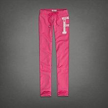 Maple麋鹿小舖 Abercrombie&Fitch * AF 粉紅色貼布電繡字母長棉褲 * ( 現貨S號 )