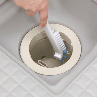 日本AISEN正品廚房水槽清潔刷排水口清洗刷縫隙刷彎頭刷子去污垢