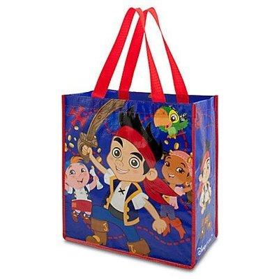 【KIDS FUN USA】迪士尼Jake傑克與夢幻島海盜 防水購物袋/手提袋  美國原裝 附吊牌