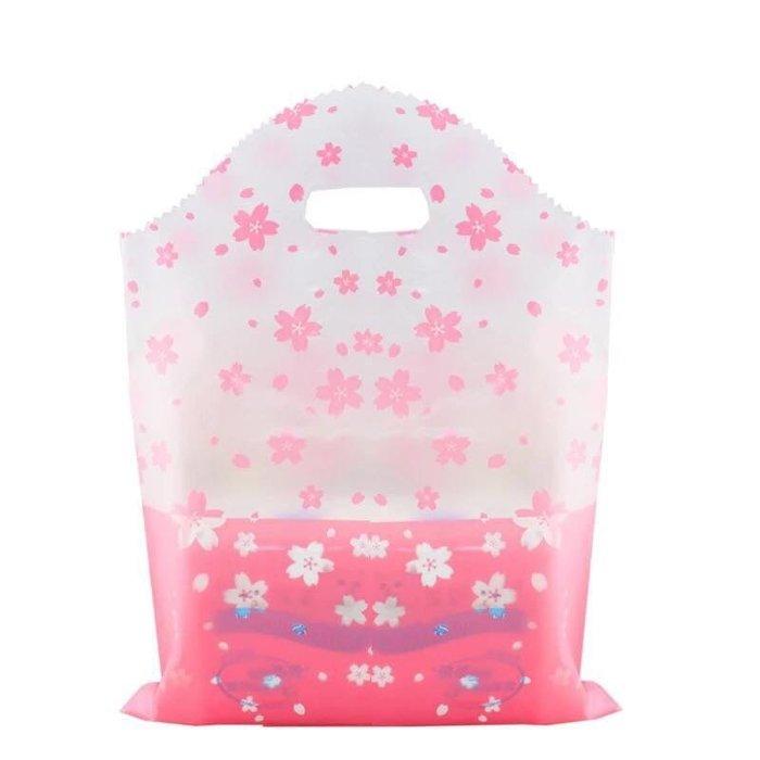 現貨 櫻花磨砂微透手提商品袋 包裝袋送禮袋40*50公分