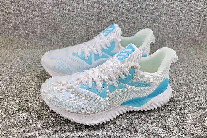 Adidas Alpha Bounce Beyond 藍白 經典 流行 休閒運動慢跑鞋 男鞋 AQ0578