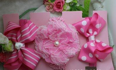 ☆草莓花園☆女童髮帶 時尚可愛花朵蝴蝶結頭飾 百搭款 花色組合15  附精美外盒