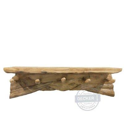 【Decker • 德克爾家飾】原生態系列傢飾 印尼柚木傢飾 實木空間生活 壁掛掛勾 阿尼托掛架 - 平台