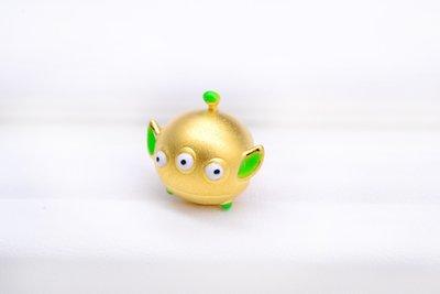 【永恆典藏館】潘朵拉STYLE黃金串珠【彩繪三眼怪】超有質感 時尚又保值 金飾串珠 免運