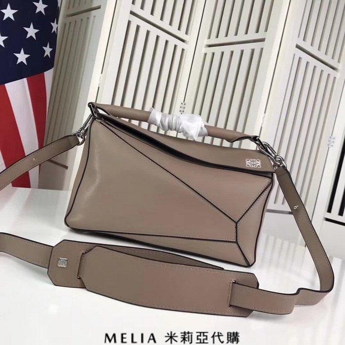 Melia 米莉亞代購 專售正品 2018ss 羅意威 LOEWE 變形包 基本款 單肩包 斜背包 小號 卡其色