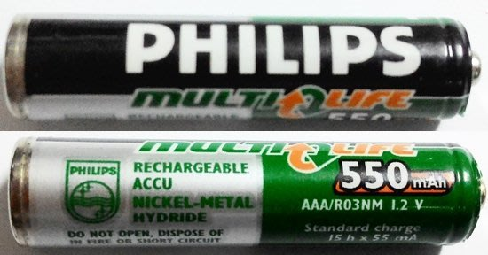 飛利浦 Philips Multi Life  4號 充電電池 AAA/RO3NM ,1.2v,550mAh,單價