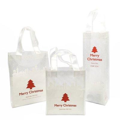 ≡☆包裝家專賣店☆≡ Merry X'mas 聖誕節 購物袋  耶誕 透明 帆布 手提袋 長20x高26x側9 cm 台北市