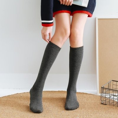 季加厚長襪子女中筒長筒護腿襪套毛巾保暖高筒半腿小腿及膝襪
