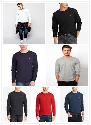 【Polo Ralph Lauren】RL 男生男裝大人 長袖T恤 刺繡小馬 純棉 素面T 圓領素面T 潮T
