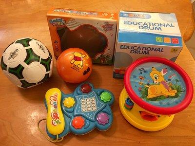 兒童足球 五感益智玩具 四樣$150 運60可合併 7-11交貨便