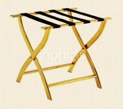 INPHIC-行李架 鈦金可折疊行李架 客房置物架 高檔箱包架 (鈦金)