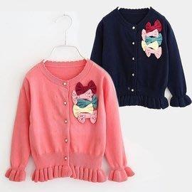 韓版《針織蝴蝶結》甜美長袖外套 (L1-3)