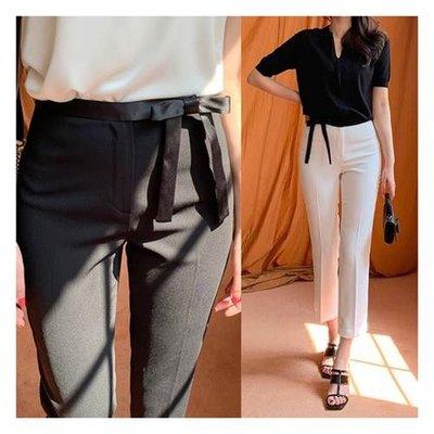 ♥可拆式絲帶~修身褲2色♥【kr6204】