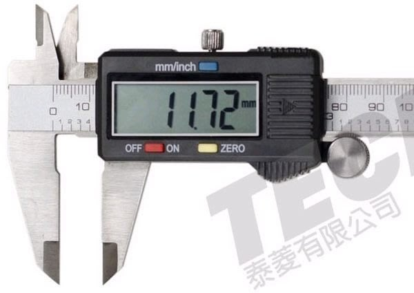 TECPEL 泰菱 》150mm 不鏽鋼電子式 游標卡尺 DC-312 超大液晶螢幕 公英制轉換