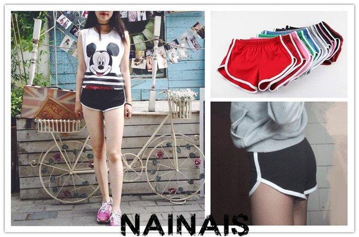 【NAINAIS】8938 韓版 學院風運動風 白色滾邊弧型家超短褲熱褲運動褲 7色 預