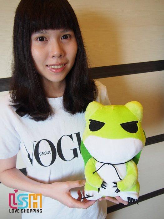 【愛購樂】 旅行青蛙 29CM 玩偶 娃娃 抱枕