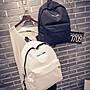 ღ~{現貨 }~ ღ帆布後背包 雙肩後背包 後背包 時尚簡約 背包 學院風 休閒後背包 書包