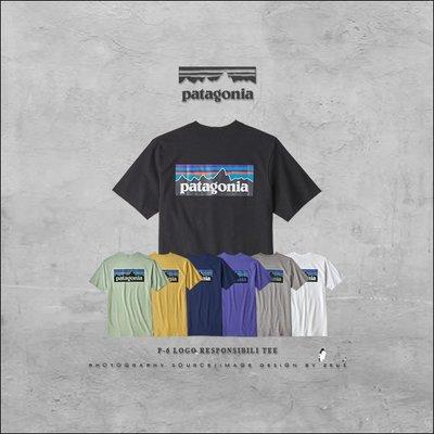 *ZEUS*Patagonia 2019AW P-6 Logo Responsibili Tee/背殺LOGOx短袖T恤