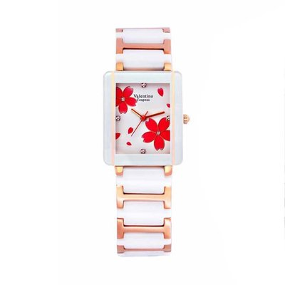 9E 61222RG-3M 愛戀櫻花半陶瓷手錶手表范倫鐵諾古柏 Valentino Coupeau