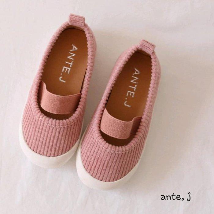 『※妳好,可愛※』 妳好可愛韓國童鞋 正韓  時尚簡約娃娃鞋 鬆緊娃娃鞋 兒童鞋 娃娃鞋