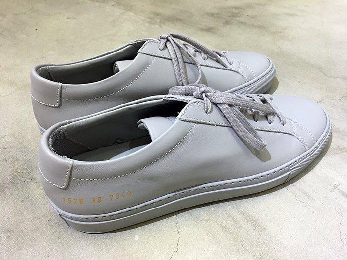 代購【COMMON PROJECTS】17春夏 ORIGINAL ACHILLES皮革休閒鞋 水泥灰*30%OFF*