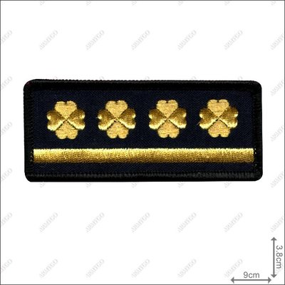 【ARMYGO】法務部矯正署監所管理員階級胸章 (一線四)