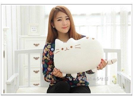 臉書貓抱枕 貓咪喵星人玩偶(白色)