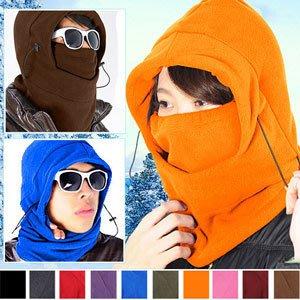 全罩式防風防寒保暖頭套面罩自行車脖圍套頭巾騎機車保暖帽滑雪頸套E010-01【推薦+】