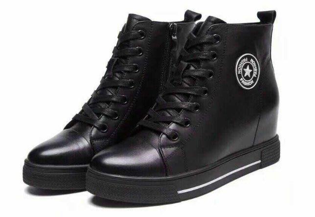 =WHITY=韓國FUPA品牌 韓國製  時尚百搭休閒  真皮牛皮小厚底鞋自留