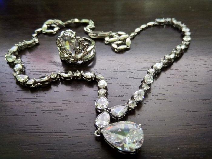 水滴鑽石戒指組