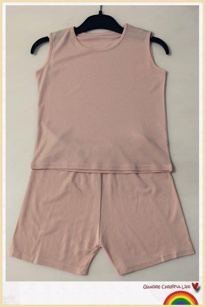 【絲絲入扣】出清~兒童~100%桑蠶絲 無袖背心+短褲強撚真絲 套裝(適胸圍68cm~74cm)