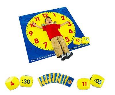 【晴晴百寶盒】美國進口 地板時鐘 時鐘地墊 好玩可愛益智玩具 益智遊戲 送禮禮物禮品 創意寶寶早教益智遊戲 W401