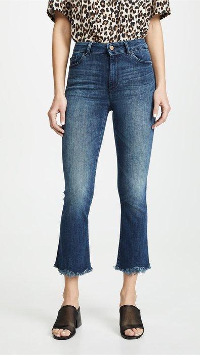 【代購】DL1961 Bridget 鬚邊下擺 微喇 合身牛仔褲