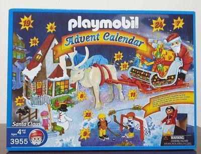 德國 摩比 playmobil 3955 advent calendar 絕版2002年 聖誕快樂禮盒 麋鹿 雪人 雪橇 聖誕老公公
