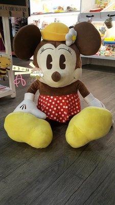 日本直送~迪士尼復古版絨毛玩偶米妮-80cm 現貨ing