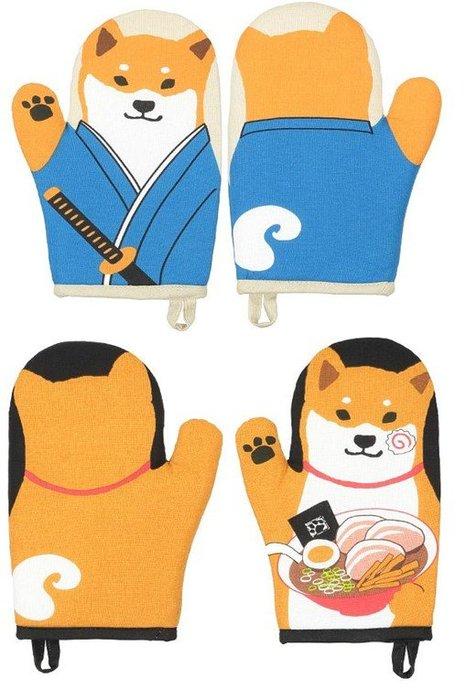 日本 防燙隔熱手套 (柴犬款 2入)