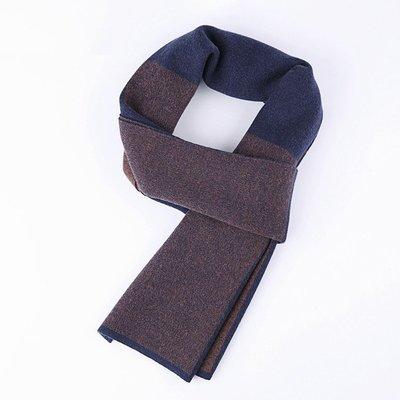圍巾 針織披肩-雙色提花羊毛百搭男配件3色73wi43[獨家進口][米蘭精品]