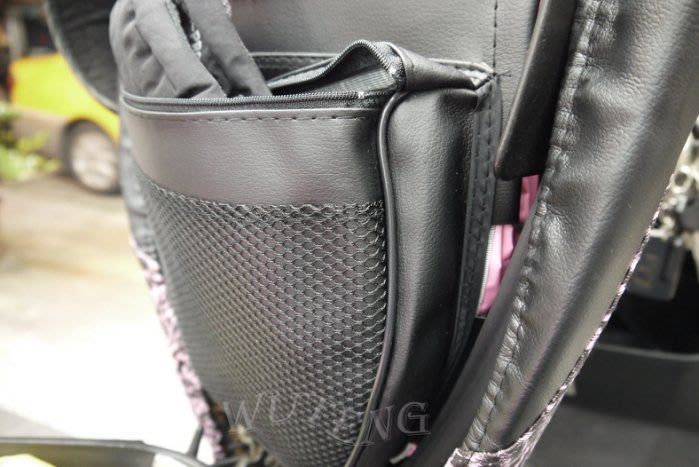 三層立體彈性置物袋(小)~置物網袋~收納袋~讓您座椅有更多的收納空間/機車/可使用(台灣製)!{WU TENG}