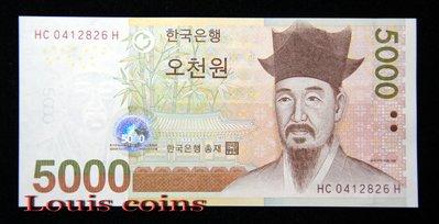 【Louis Coins】B443-KOREA (SOUTH)--2006韓國紙幣5000 Won