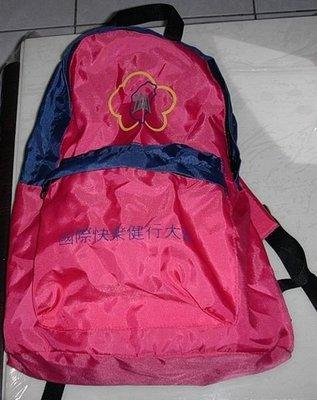 後背包/輕便包/旅行背包/書包/登山包 粉紅色 購買價:108元