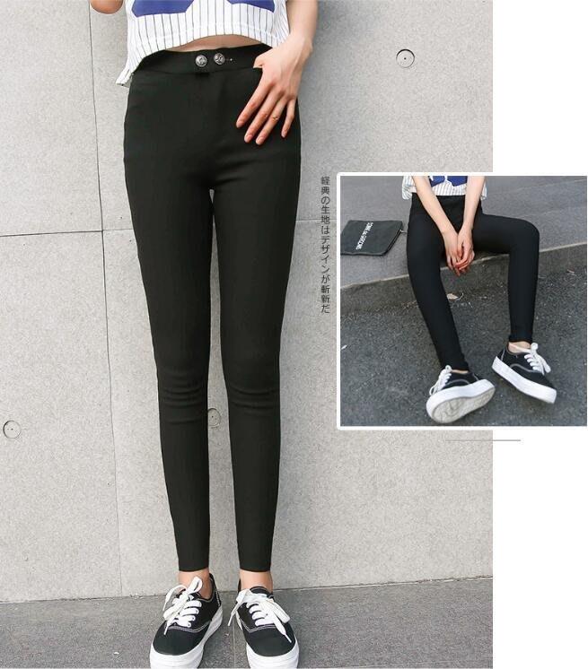 【薄款】 韓國魔術褲 顯瘦褲 小腳褲 鉛筆褲 長褲  彈力褲 [JC的店]
