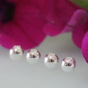 蠟媽銀坊~925純銀10m亮銀珠1顆一份