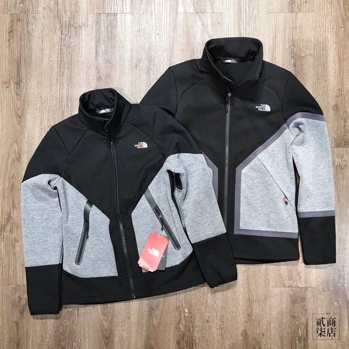 (貳柒商店) THE NORTH FACE Jacket 男女款 防風 防潑水 灰黑 外套 機能性 保暖 TNF 軟殼衣