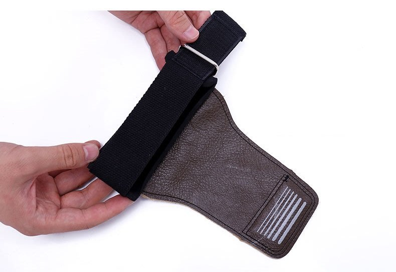宙斯健身網- KHUITEN 牛皮款護掌(棕色) 拉力帶 加厚護腕 助力帶 握力帶