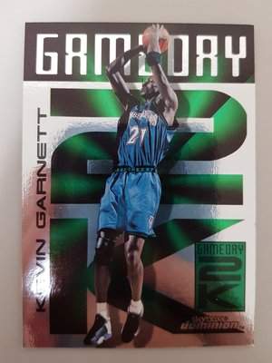 【球員卡】99-00 Skybox Dominion GameDay 2K 特卡 Kevin Garnett 狼王