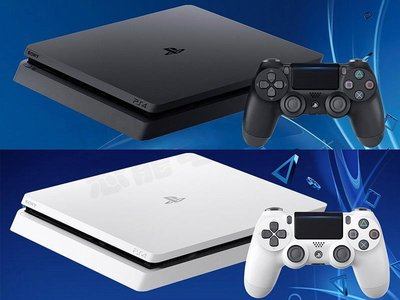 SONY PS4 SLIM 新版主機 CUH-2218 500G 極致黑 冰河白 黑色白色 公司貨 加贈遊戲