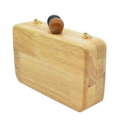 晚宴 包 木質手拿包-時尚簡約百搭方形女包包73su4[獨家進口][米蘭精品]