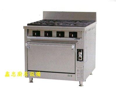 鑫忠廚房設備-餐飲設備:四主西餐爐烤箱 賣場有烤箱-冰箱-咖啡機-水槽-工作檯